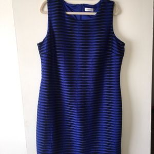 Calvin Klein blue dress. Short. Size 16